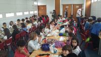 Encuentro entre escolares españoles y portugueses