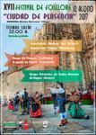 Cartel del Festival de folclore de Plasencia