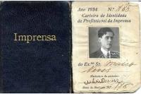 Carnet de prensa de Mário Neves